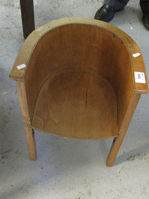 Peter Francis : Small bent wood child\'s tub chair. : Online Auction ...