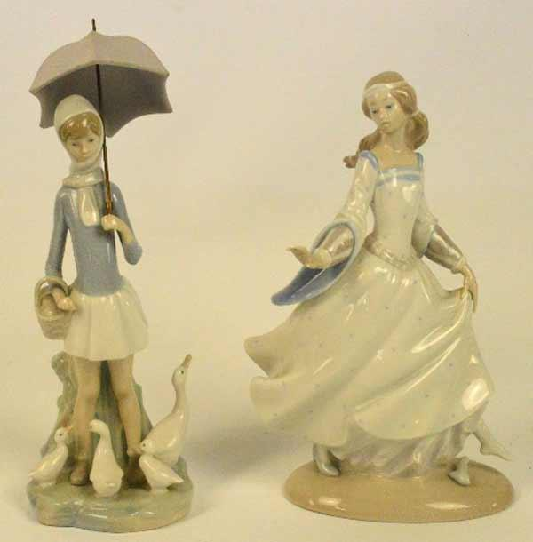 Adam Partridge Auctioneers Valuers Two Lladro Figures A Woman