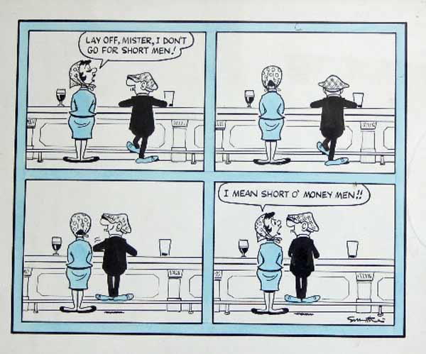 chorley s reg smythe two andy capp cartoons each of four panels