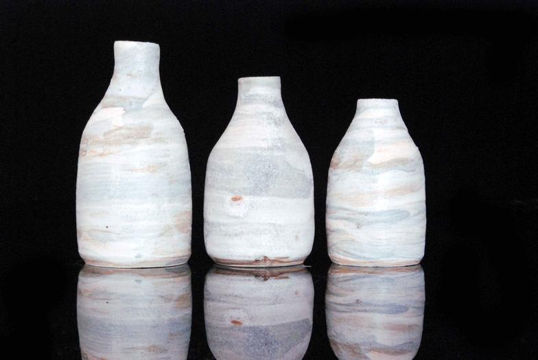 Fieldings Auctioneers Ltd Three Contemporary Studio Pottery Bottle