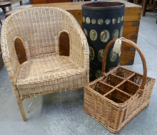 Jubilee Auction Rooms : A pair of child\'s wicker tub chairs, a six ...