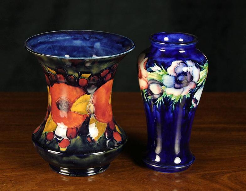 Wilkinsons Auctioneers Two Moorcroft Vases One With A Flared
