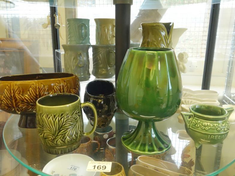 Westenhanger Auctions Shelf Containing Mainly Sylvac Vases And