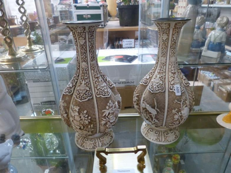 Thompsons Auctioneers Pair Of Ivory Dynasty Vases Online