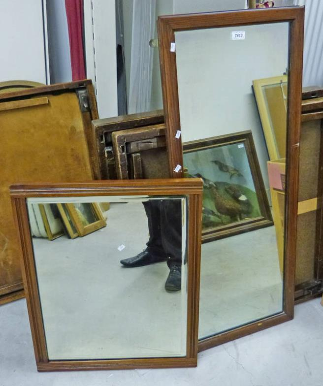 Taylors Auctions 2 Mahogany Framed Wall Mirrors Online Auction