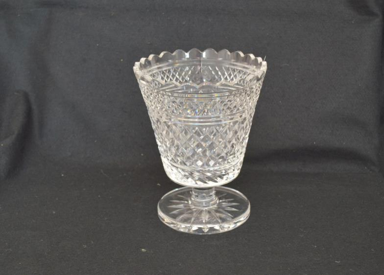 Mcafee Auctions A Large Footed Waterford Crystal Vase Online