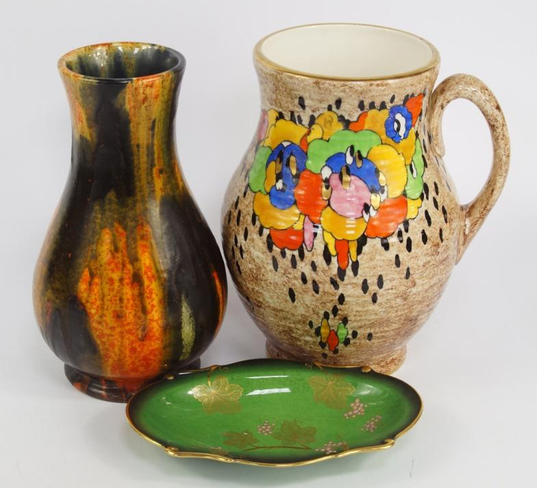 Golding Young Mawer Bourne A Crown Ducal Pottery Jug Of