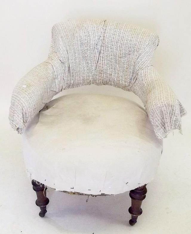 Smiths of Newent : A Victorian tub chair in need of re upholstering ...
