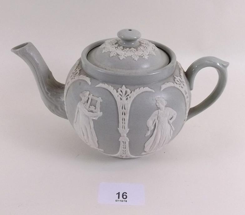 Smiths of Newent : A Dudson Jasperware style teapot : Online Auction ...