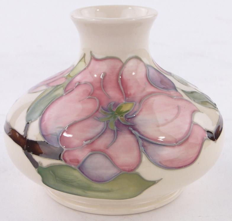 Burstow And Hewett A Moorcroft Magnolia Pattern Squat Vase