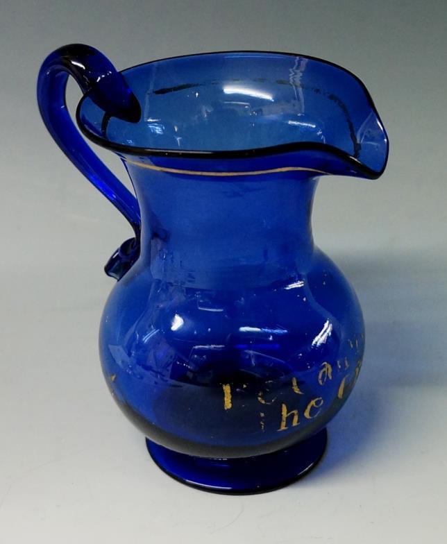 Nicholas Mellors Auctions A Georgian Bristol Blue Glass Cream Jug