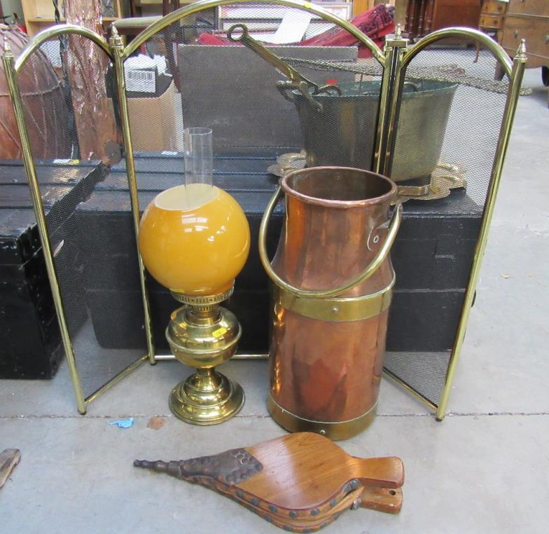 Jubilee Auction Rooms A Brass Bound Copper Milk Churn Umbrella