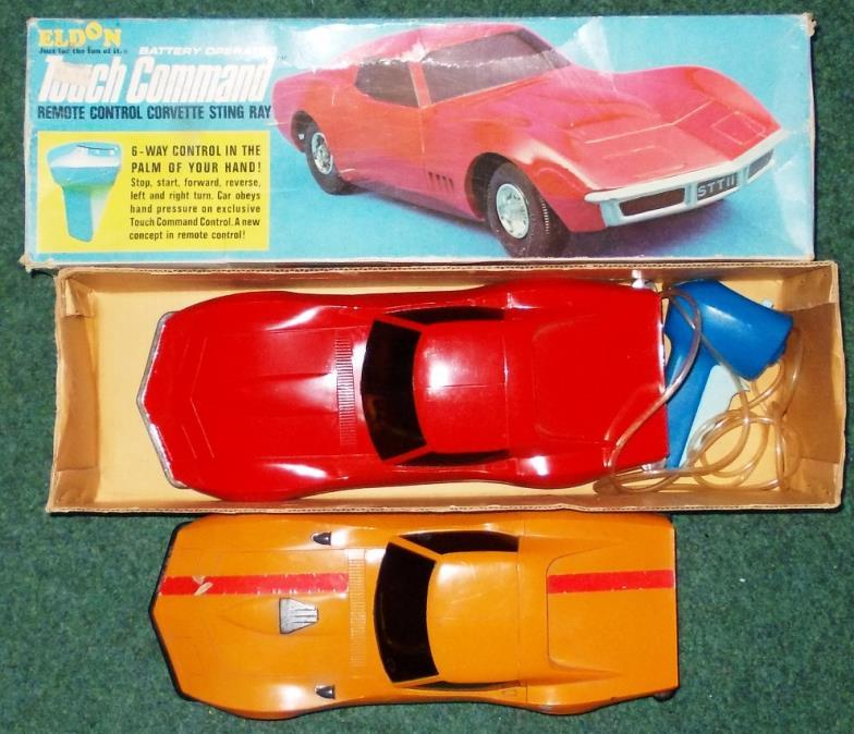 2 Eldon Touch Command Remote Control Model Corvette Stingray Dated 1968 14 Long Good Condition