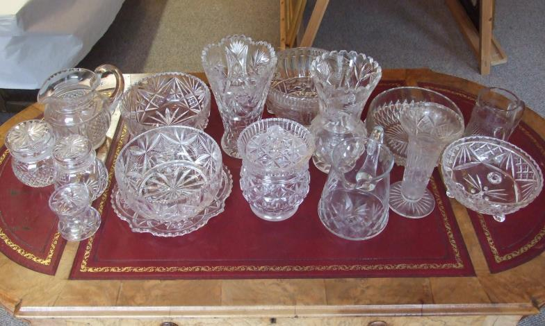Swan Turner 16 Crystal And Glass Vases Jugs Bowls Etc