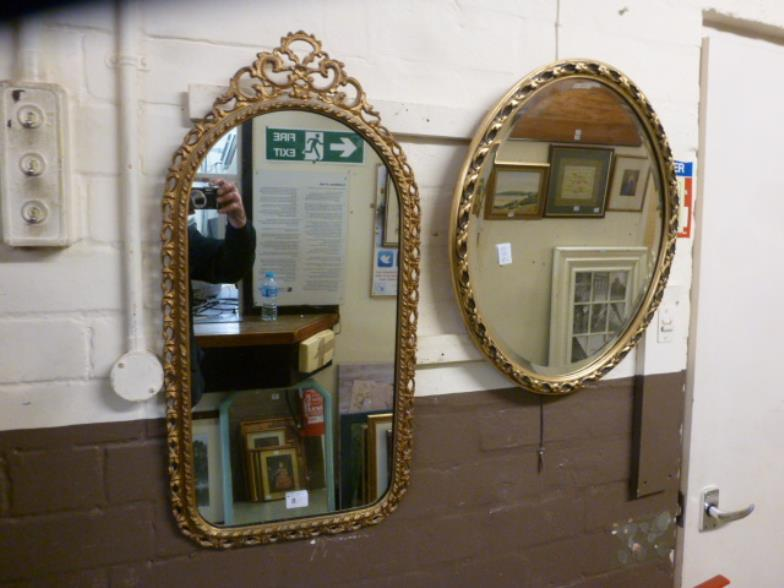 Locke England Two Ornate Gilt Framed Wall Mirrors Online