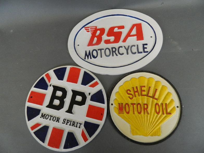"/""BSA MOTOR CYCLES/"" ADVERTISING METAL SIGN"