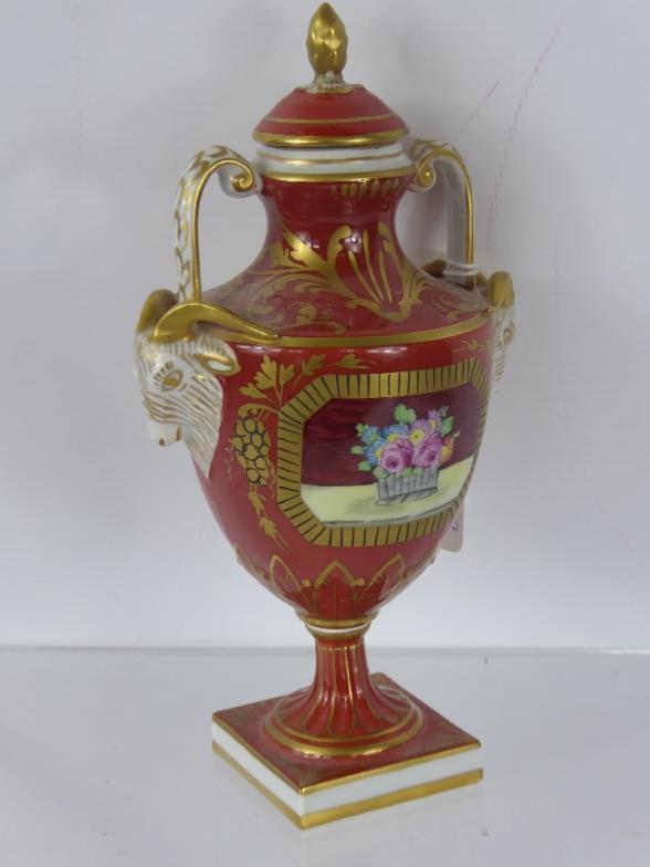 British Bespoke Auctions A Dresden Porcelain Vase Having Ramss