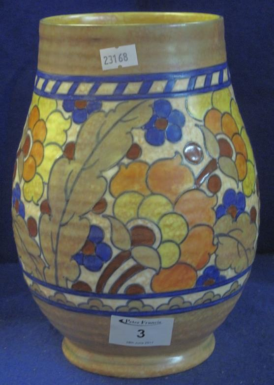 Peter Francis Crown Ducal Pottery Charlotte Rhead Design Baluster
