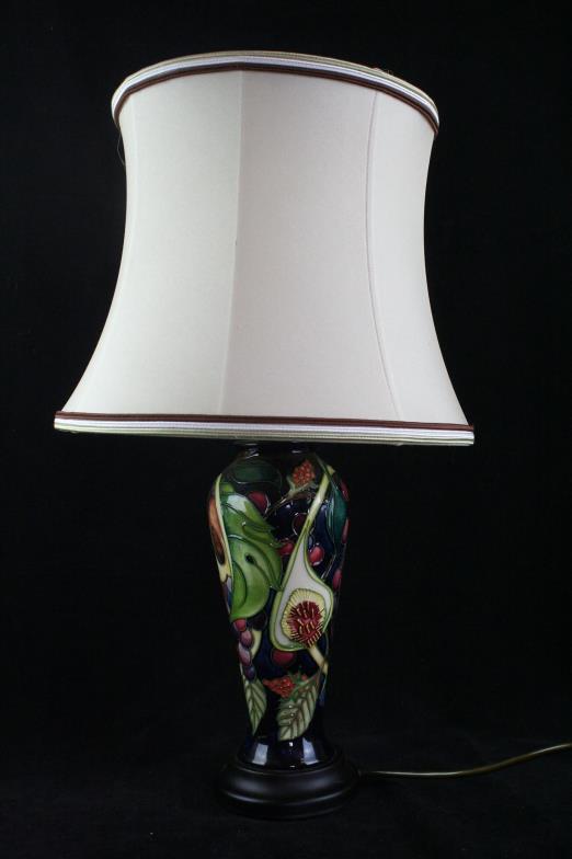 Wright marshall knutsford a modern moorcroft table lamp of wright marshall knutsford a modern moorcroft table lamp of tapering cylindrical online auction catalogue aloadofball Images