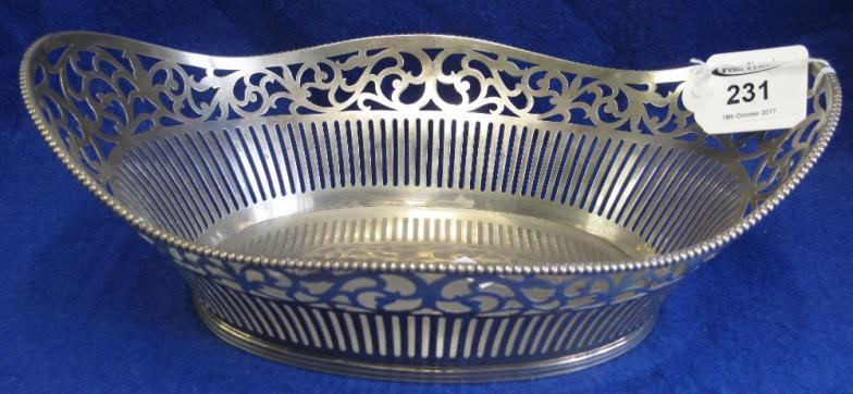 Peter Francis  Danish silver pierced oval fruit bowl or basket 12  Online Auction Catalogue & Peter Francis : Danish silver pierced oval fruit bowl or basket 12 ...