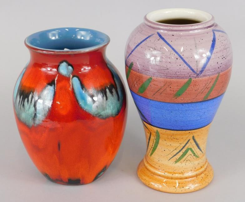 Golding Young Mawer Lincoln Two Poole Pottery Vases To Include