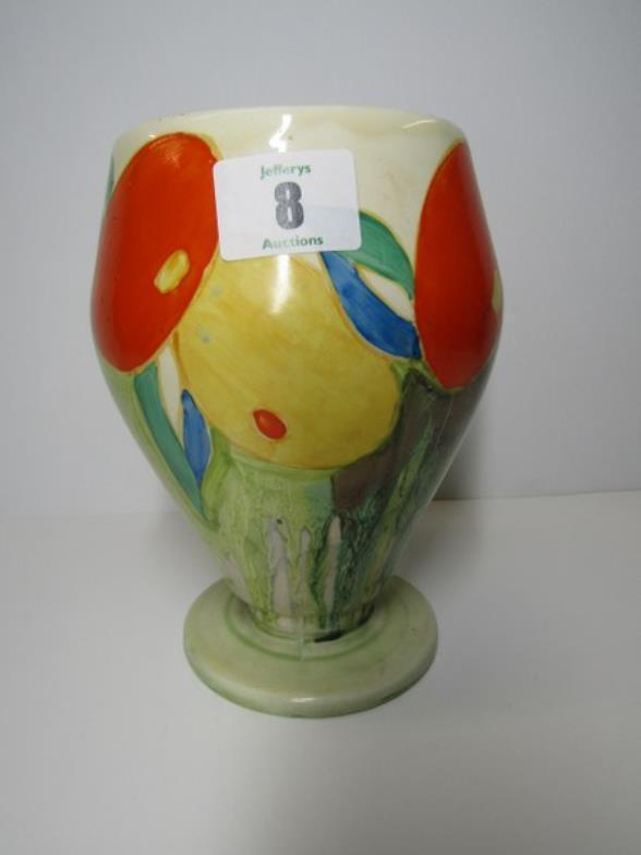 Jefferys Clarice Cliff Delicia Citrus Pattern 65 Vase