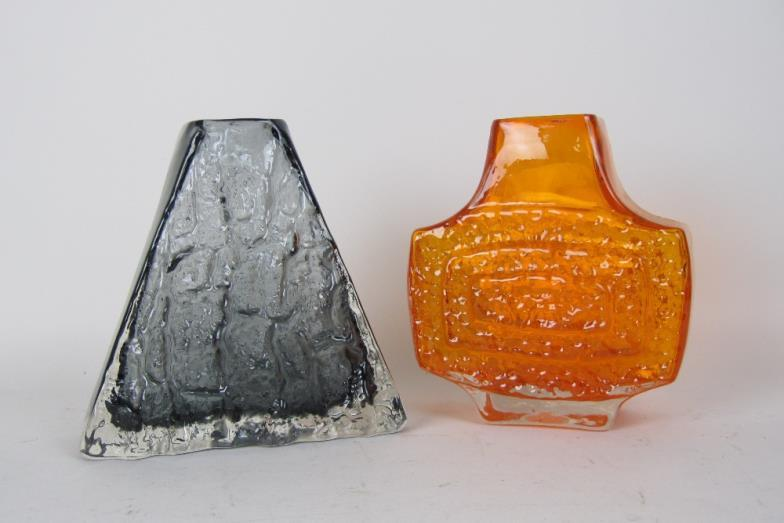 Brightwells A Whitefriars Glass Tv Vase In Tangerine 7in And
