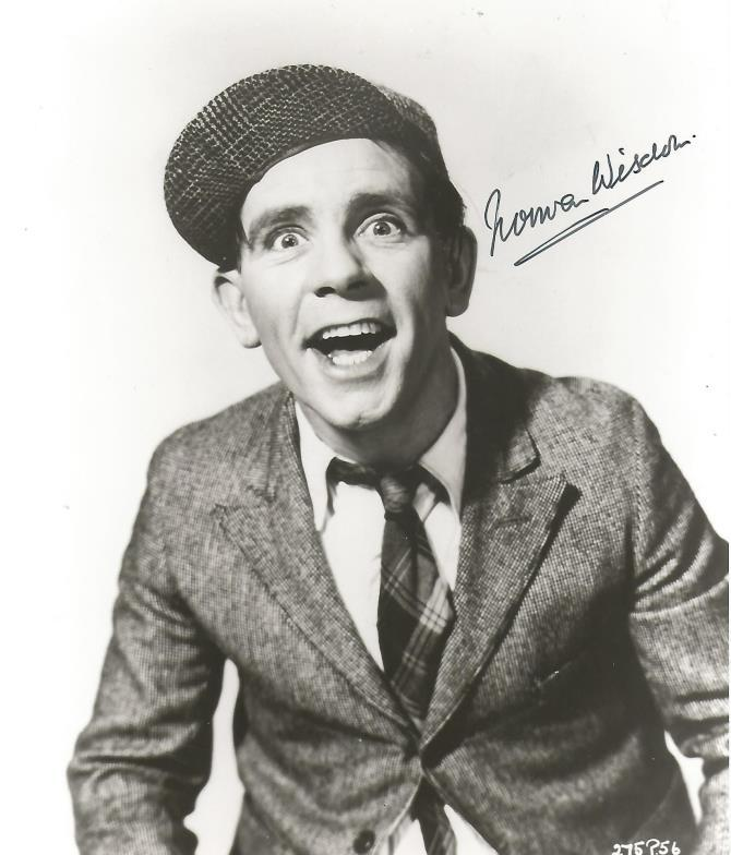 Chaucer Auctions Norman Wisdom Comedy Actor Signed 8x10 Photo