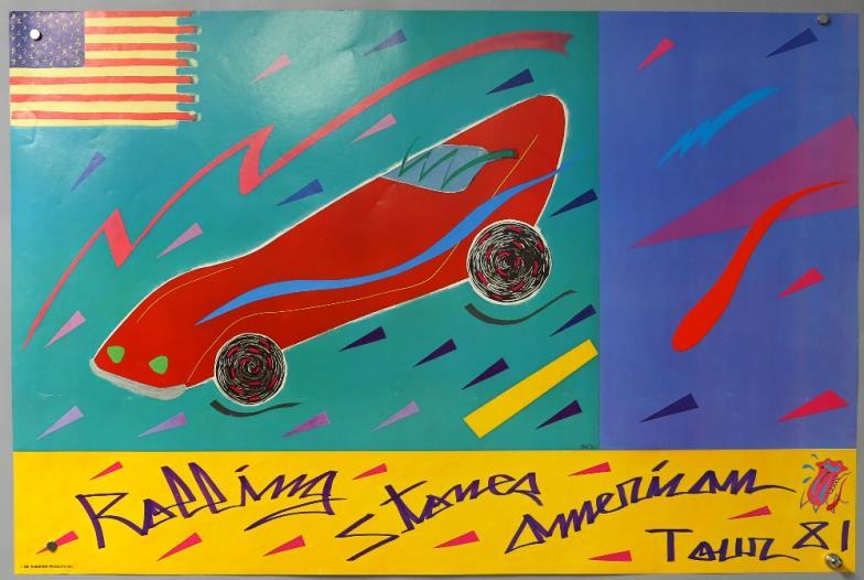 The Rolling Stones American Tour Concert Poster 1981 Rolled 22 X 33 Inches You Can Bid Live On This
