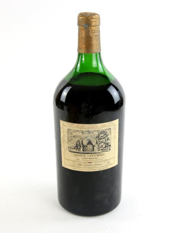 1 Jeroboam Double Magnum Of Chateau Cantemerle Haut Medoc 1982 Vintage Red Wine You Can Bid Live