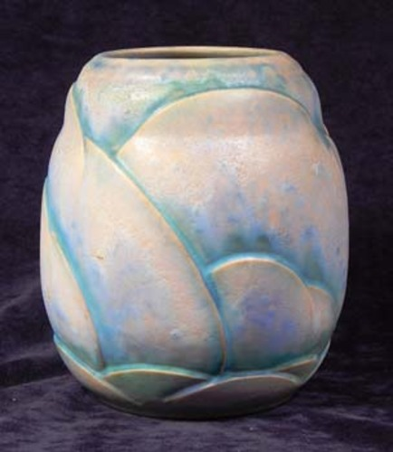 Lacy Scott Knight A 1930s Bourne Denby Pottery Vase Of Shaped
