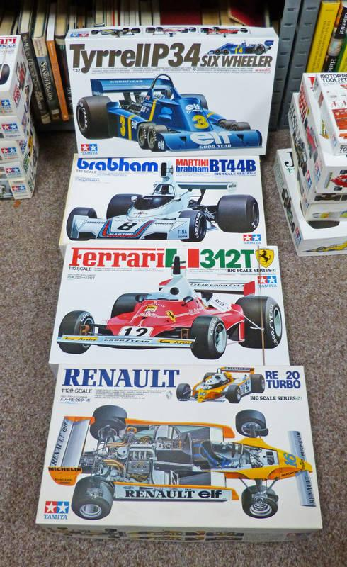 Taylors Auctions : FOUR TAMIYA 1:12 SCALE UNMADE FORMULA ONE