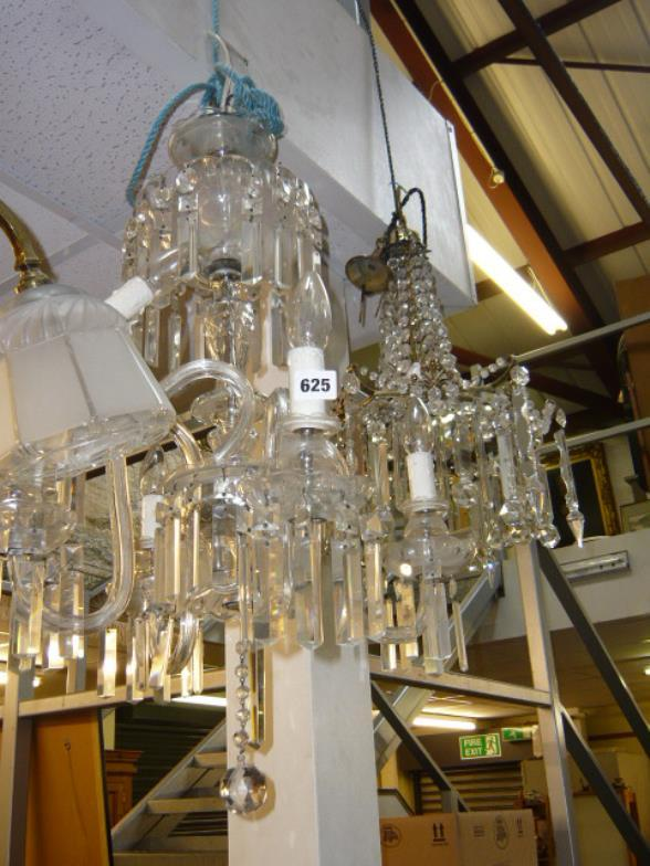 Bainbridges : An impressive glass and crystal ceiling light
