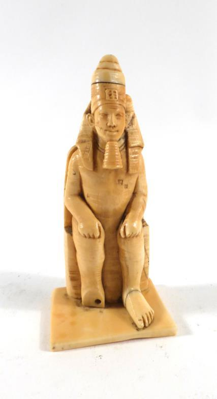 90f12a601 A late 19th early 20th century ivory carving modelled as an Egyptian  pharaoh