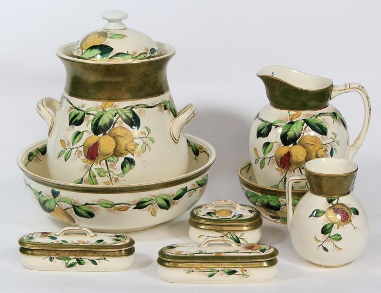 Wright Marshall - Knutsford : Wedgwood & Co Pomegranate nine piece