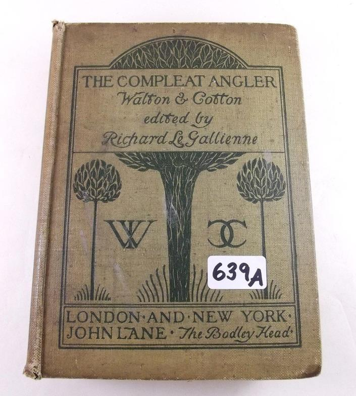Smiths Of Newent The Complete Angler By Izaac Waltoncharles