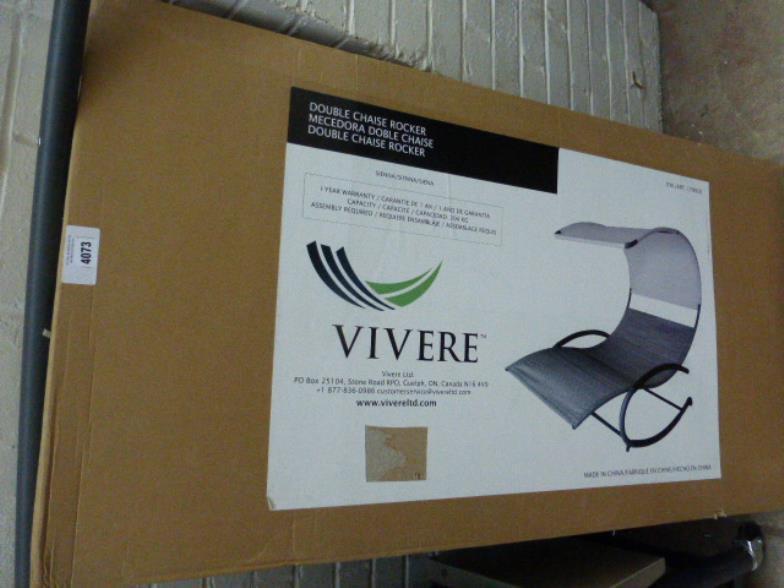 924791c03 W&H Peacock : Double chaise rocker (boxed) : Online Auction Catalogue