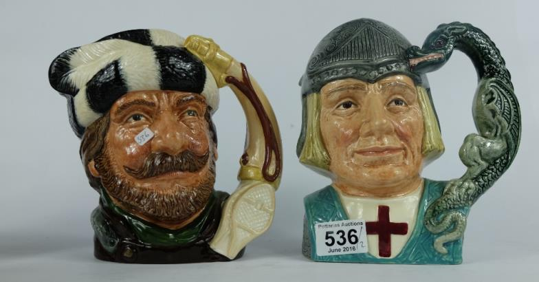 Potteries Auctions : Royal Doulton large character jugs The Trapper