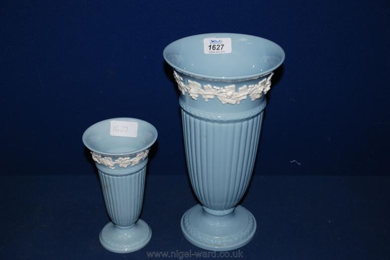 Nigel Ward Co Sale 1 Two Blue And White Wedgwood Vases 6 34