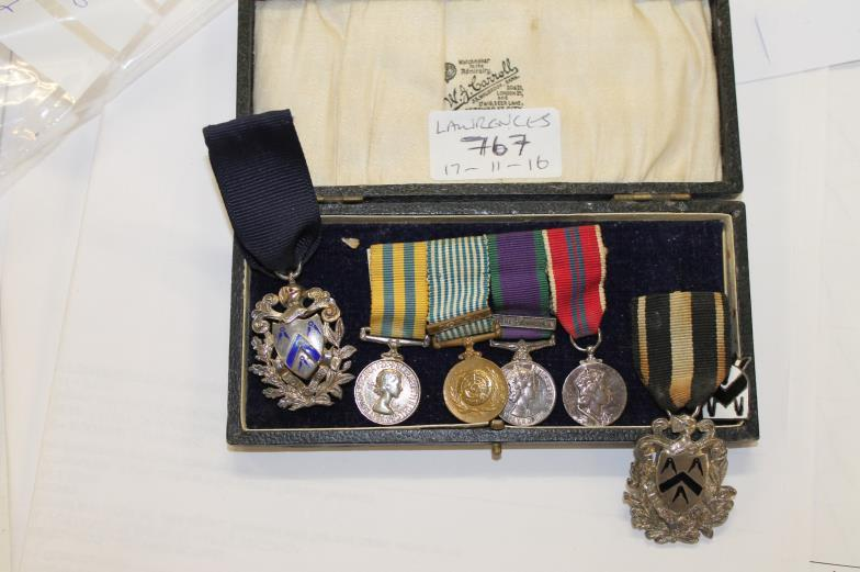 Lawrences Auctioneers (Crewkerne) : MINIATURE MEDALS etc A miniature