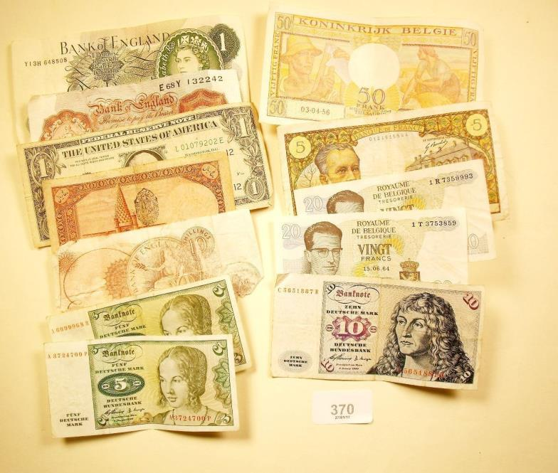 Smiths of Newent : A wad of World banknotes including