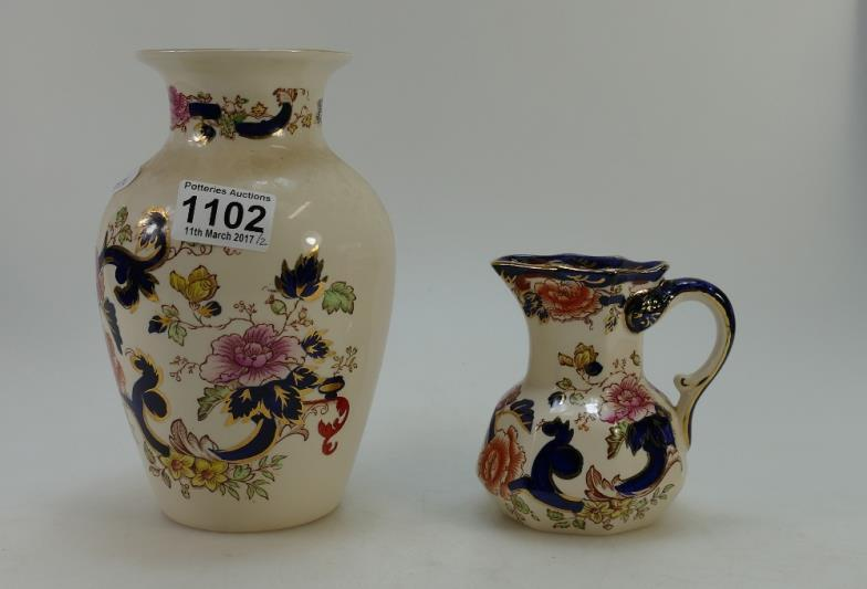 Potteries Auctions Masons Mandalay Vase And Decorative Jug 2