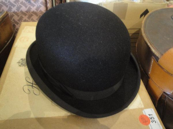 A ladies Herbert Johnson black hard top bowler hat in cardboard Herbert  Johnson box 6d5773ae4ae