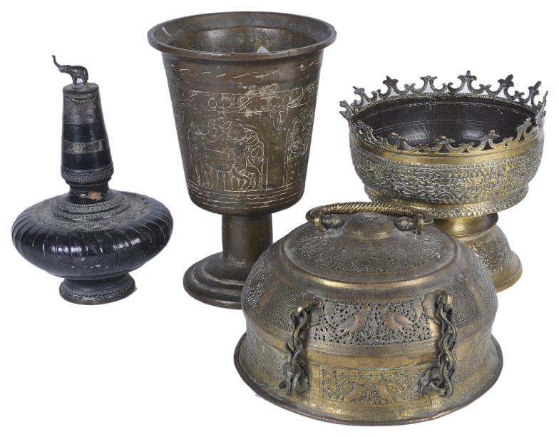 A miscellaneous antique collection of Indian and South-East Asian metalwork