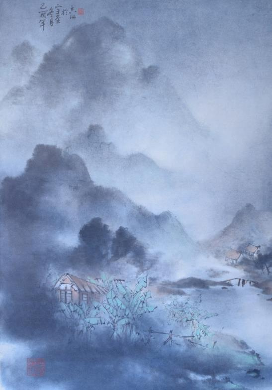 Hu Yuji (Chinese b.1927) - Watercolour