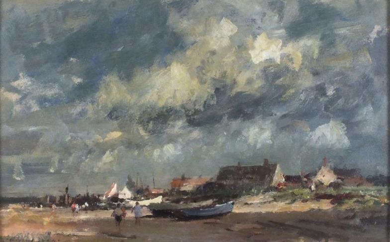 <i>Edward B. Seago (1910-1974), Oil on board, 'Beach Scene on the Suffolk Coast'</i>