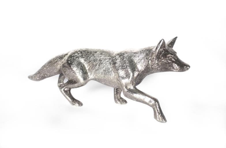 W&H Peacock : A silver figure in the form of a stalking fox