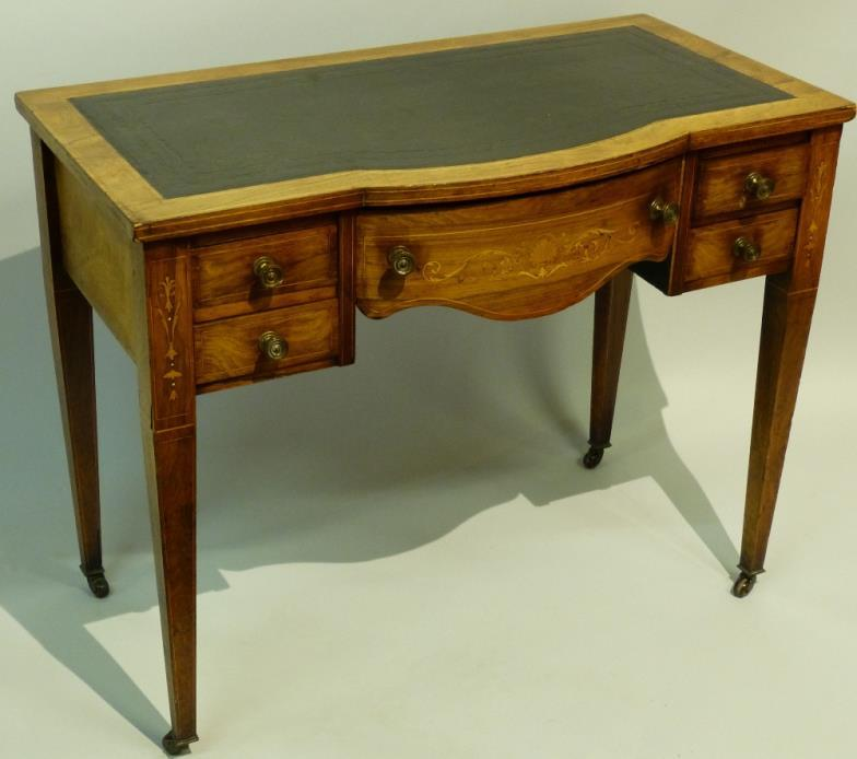 19th Century Rosewood Kneehole Breakfront Writing Table