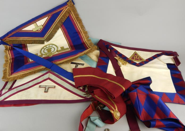 Golding Young & Mawer Lincoln : Various Masonic Aprons, etc , mainly