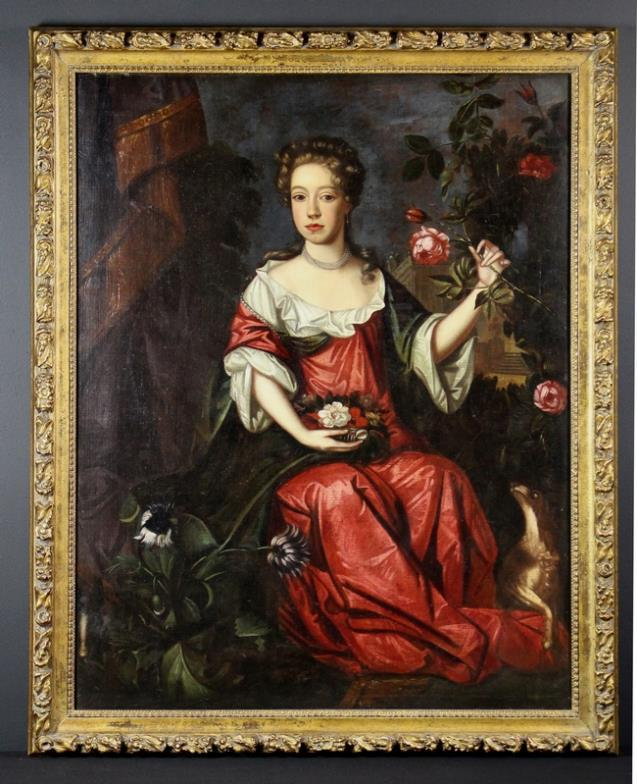 <i>Provincial School. A Late 17th Century Full Length Portrait of Seated Lady</i>